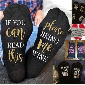 Accessories - BOGO SALE. Buy Beer Socks, Get FREE Wine Socks NWT